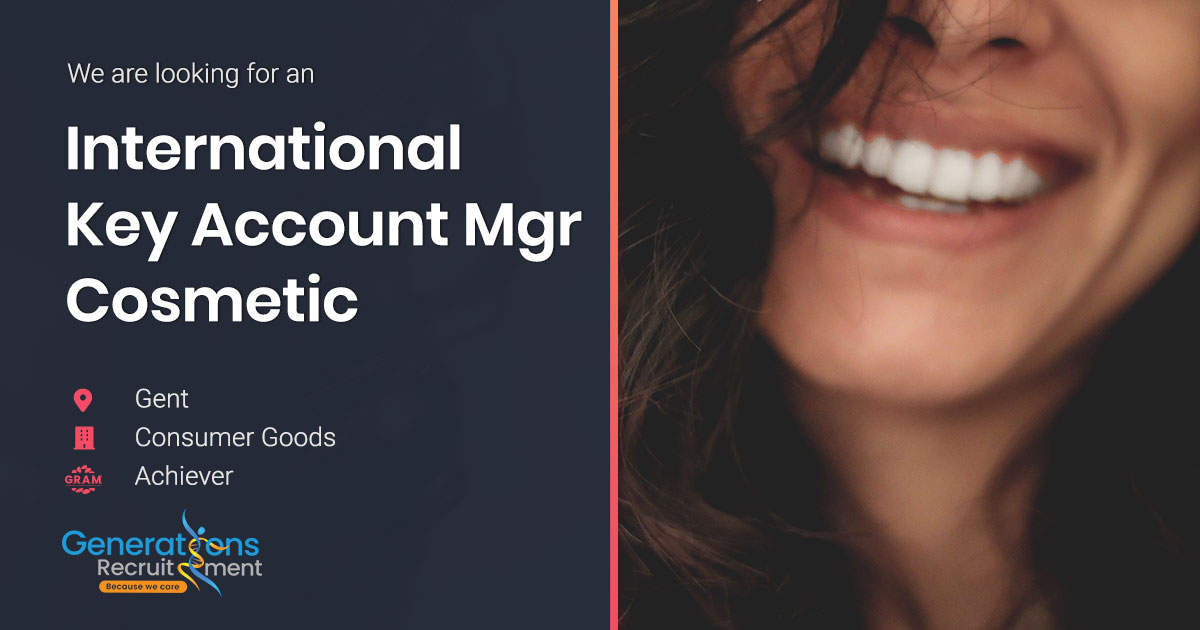 International Key Account Manager Cosmetic