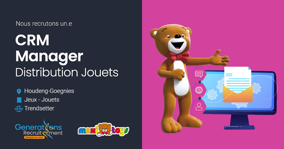 CRM Manager | Distribution Jouets