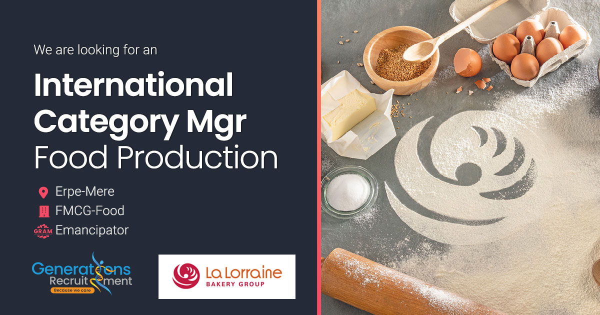 International Category Manager I Inspirational Food Production