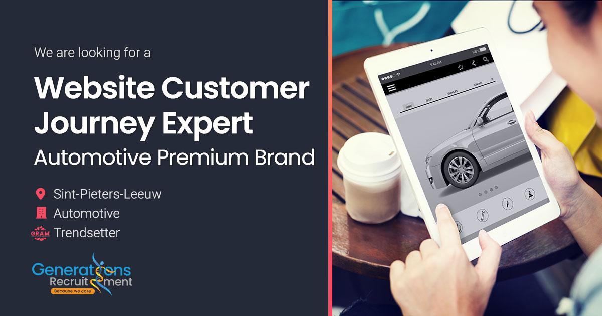 Website Customer Journey Expert | Automotive Premium Brand
