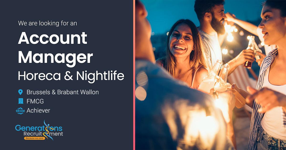 Account Manager Horeca & Nightlife Brussels - Brabant Wallon