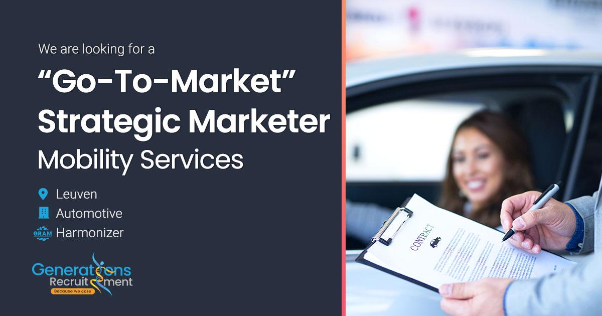 """Go-to-market"" Strategic Marketer I Mobility Services"