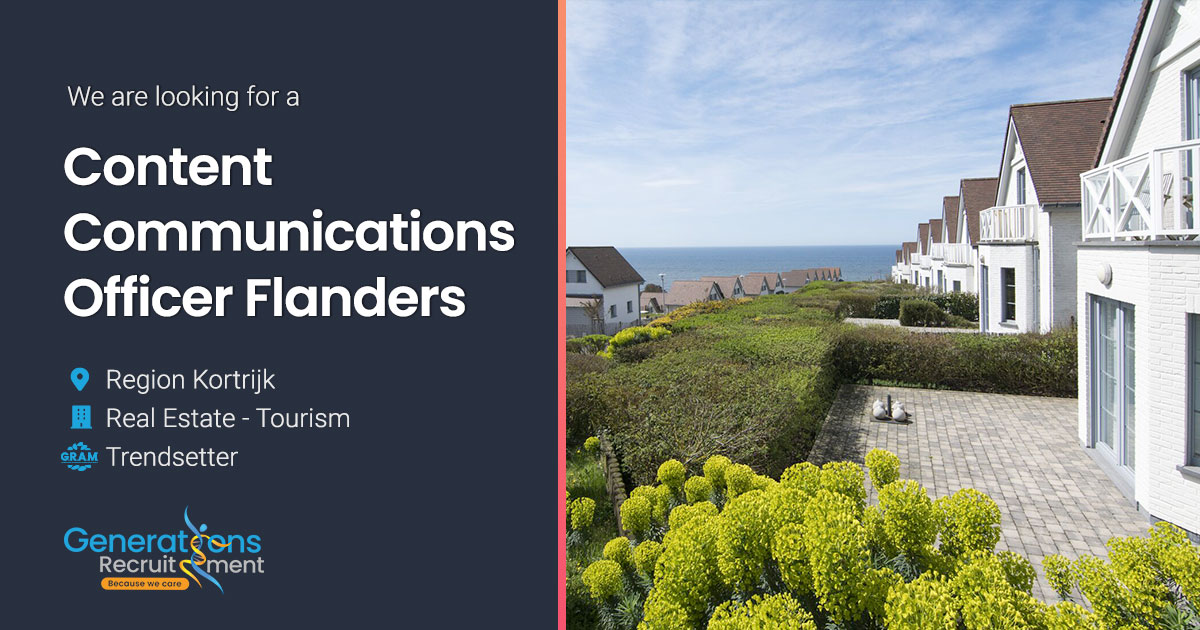 Content Communications Officer Flanders I Real-Estate - Tourism