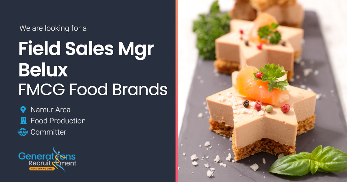 National Field Sales Manager Belux - FMCG Food