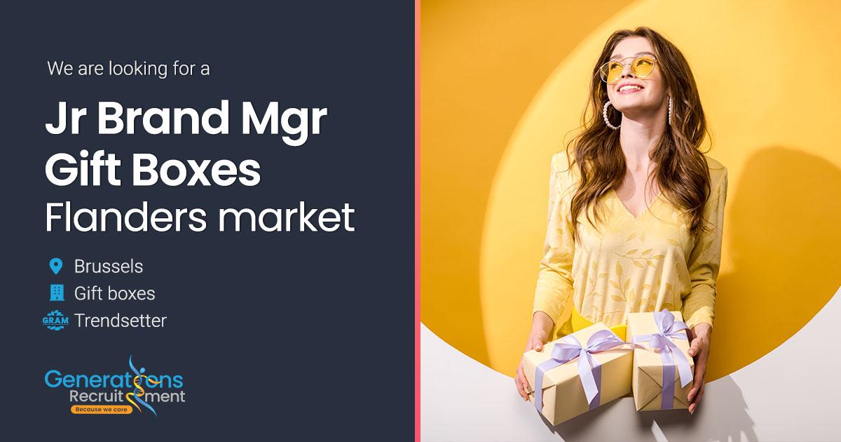 Jr Brand Manager Gift boxes Flanders market